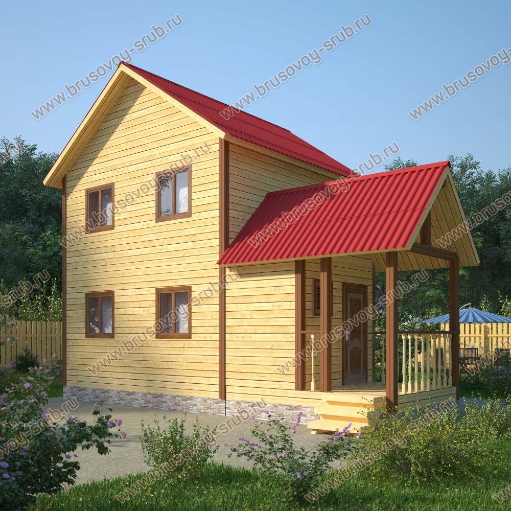 Дом из бруса 6х10 в два этажа