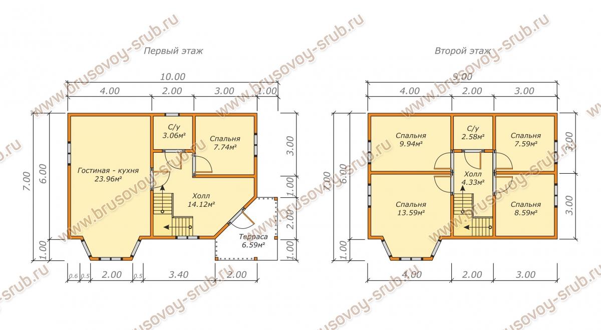 Планировка дома с полувальмовой крышей