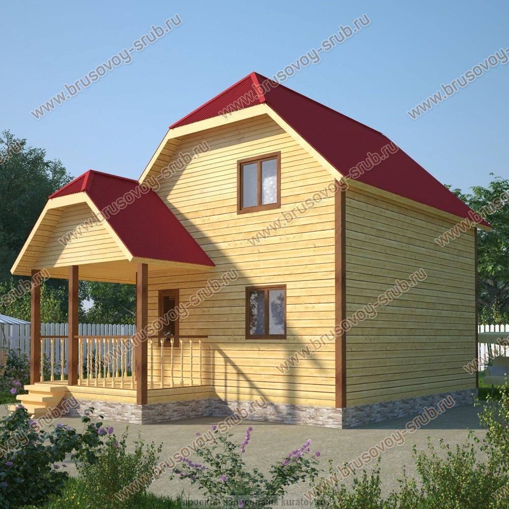 Проект дома 6х7 с мансардой