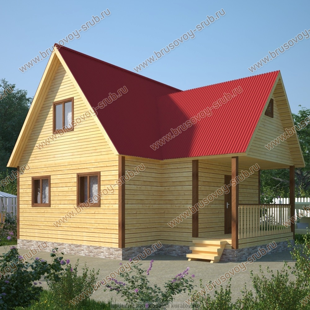 Дом 9х9 из бруса