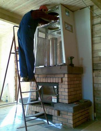 Монтаж камина в деревянном доме