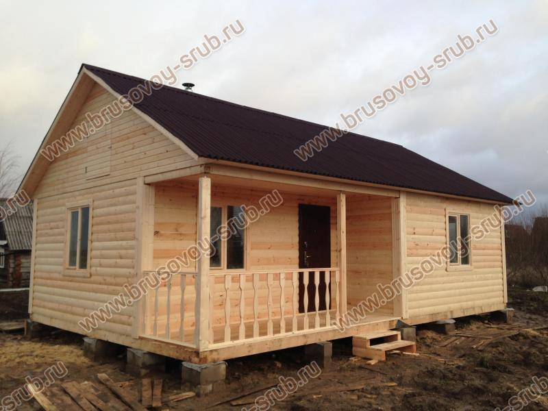 одноэтажный деревянный загородный дом