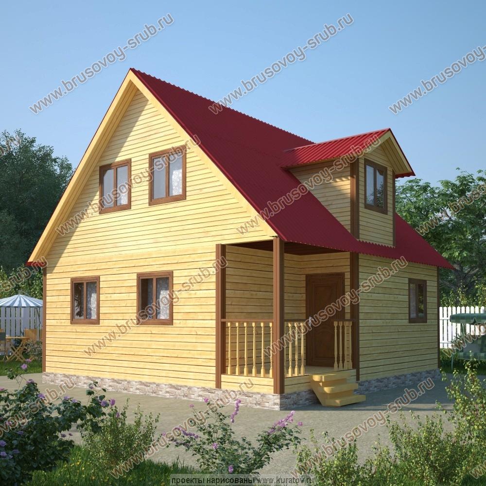 проект дома из бруса 8х8 метров