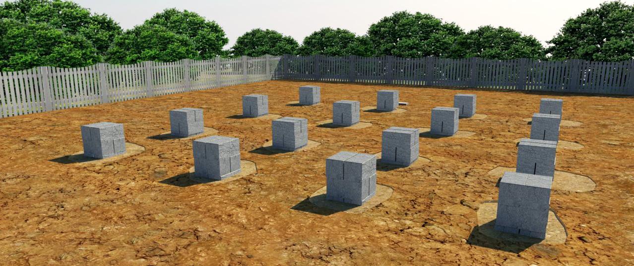 опорно-стобчатый фундамент для дачного дома из бруса