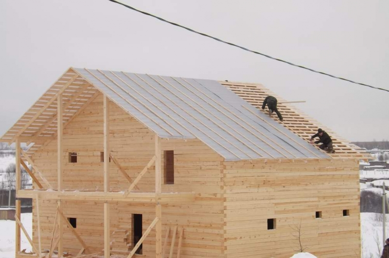 строительство дома из бруса 9х12