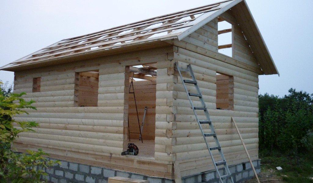 Построить баню из бруса 4х6 своими руками
