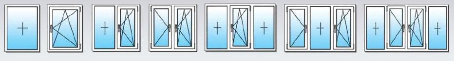Окна по количеству створок