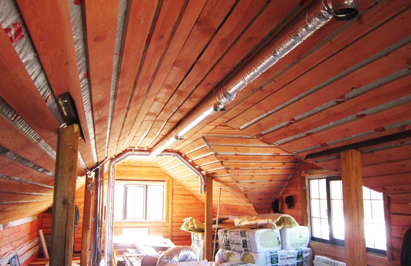 Качественная вентиляция сохранит дом из бруса