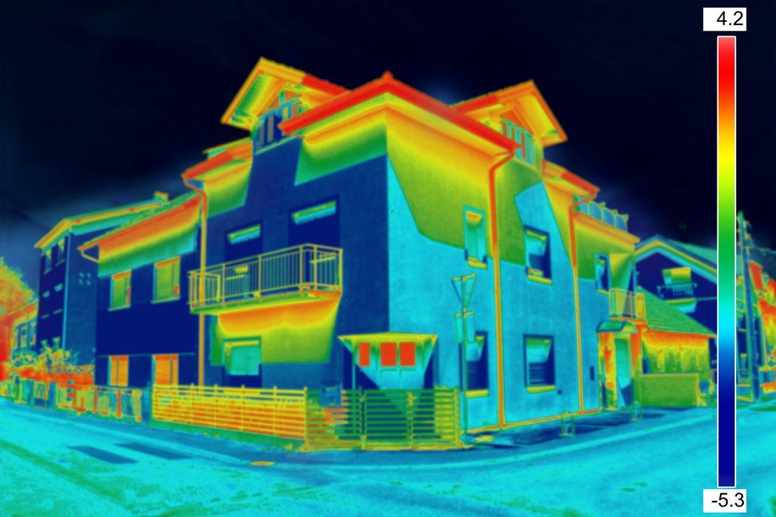 Проверка тепловизором дома из бруса