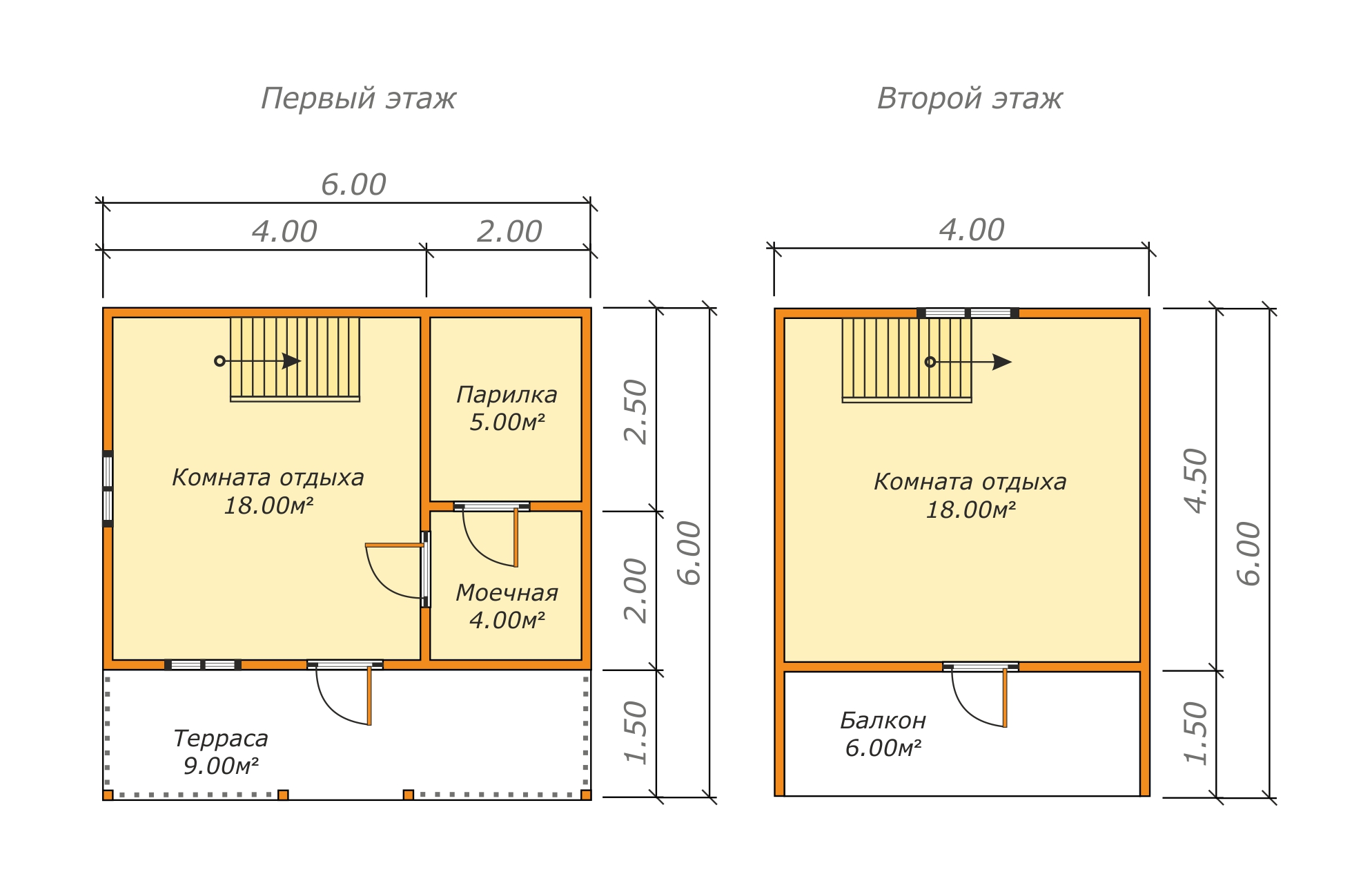 планировки бани 6х6