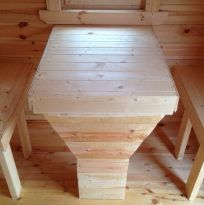стол с лавками