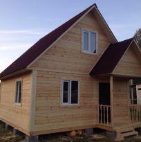 Строительство брусового дома по проекту д-21
