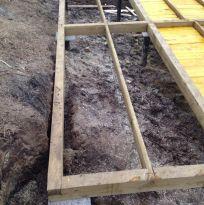 Половые лаги из доски 40х150 с шагом не более 700 мм (1 этаж)