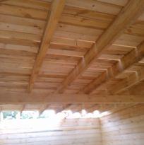 Межэтажное перекрытие (лаги 2 этаж) доска 40х150 ставиться на ребро с шагом не более 600 мм