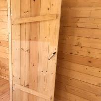 Двери банные клиновые