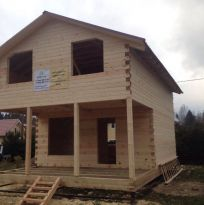 Дом из профилированного бруса камерной сушки размером 6х9м
