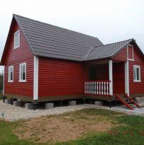 Дом 8,5х9 м из профилированного бруса 150х150 мм.