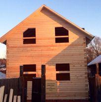 Дом 6х9м из профилированного бруса 150х200 мм.