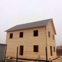 Дом без отделки из профилированного бруса 150х150мм размером 10х8м
