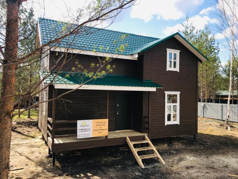 Каркасно-щитовой дом 7.5х9м в 1.5 этажа