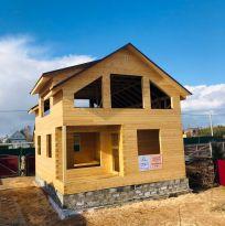 Дом 7х9м в 1.5 этажа из профилированного бруса 150х150 мм без отделки