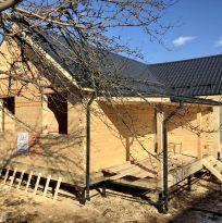 Одноэтажный дом 7.5х11м из строганного профилированного бруса 150х200мм без отделки