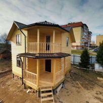 Дом 6х6м в 1.5 этажа из профилированного бруса 150х150мм камерной сушки