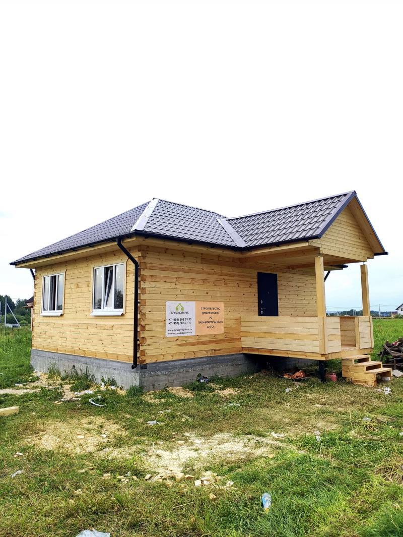 Дом-Баня 6х8м с крыльцом 2.5х2.5м из профилированного бруса 140х140мм естественной влажности