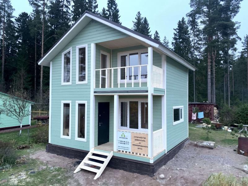 Каркасный дом 6х6м в 1.5 этажа под ключ, утепление 150мм.